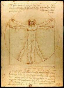 El hombre de Vitruvio, por Leonardo Da Vinci